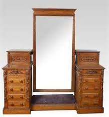 Pine Vanity Table Furniture Pine Dressing Table With Mirror And Stool White