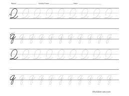 9 best images of cursive letter q worksheet cursive writing
