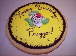 happy birthday preggo cookie cake cakecentral com