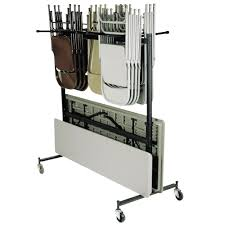 Folding Table With Chair Storage Table Carts Rolling Table Carts