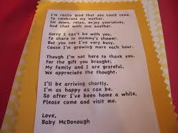 baby shower gift basket poem baby shower poem gift baby shower decoration