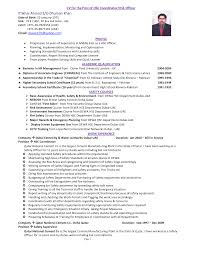 Security Guard Resume Example 28 Safety Officer Resume Sample Pdf Safety Professional