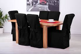 Black Dining Chair Covers Set Of 6 Black Linen Fabric Dining Chair Covers For Scroll Top