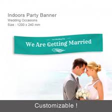 design x banner wedding customised wedding party decorations banner supplies