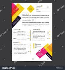 Resume Vector Cv Resume Template Vector Stock Vector 277842737 Shutterstock