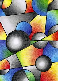 cubism geometric shapes and color theory drawing pinterest