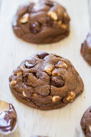 soft and chewy nutella white chocolate chip cookies averie cooks