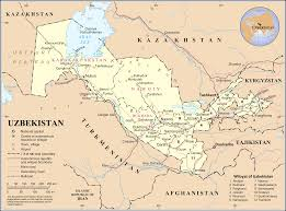 World Map With Cities Uzbekistan Map Blank Political Uzbekistan Map With Cities