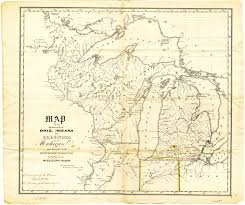 Map Of Indiana And Illinois by Michigan Ohio Boundary 1836 Msu Libraries