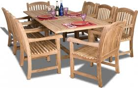 Teak Patio Dining Table Amazonia Teak Newcastle 9pc Teak Outdoor Patio Dining Set