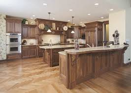 kitchen dazzling light walnut kitchen cabinets curved granite