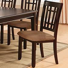 2 Chair Dining Table Amazon Com Kendall Dark Cherry Finish Dining Chairs Set Of 2