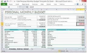 Excel Home Budget Template Free Personal Monthly Budget Template For Excel