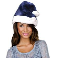 blue santa hat navy blue santa claus hat