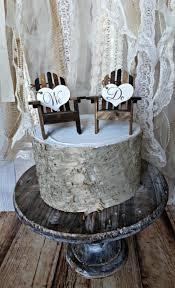 adirondack chairs nautical wedding cake topper miniature