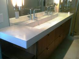 Stainless Bathroom Vanity by Stainless Steel Trough Sink Bathroom U2014 Home Ideas Collection