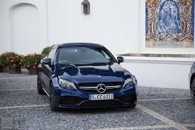 blue mercedes mercedes benz c class coupé drive costa del sol
