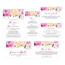carnation floral wedding invitation do it yourself printable template