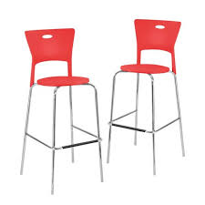 contemporary red bar stools bellacor