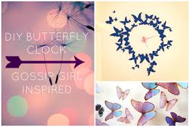 Diy Paintings For Home Decor Diy Wall Decor Butterfly Clock Gossip Inspired Youtube