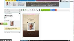 Funeral Programs Online Life Heart And Legacy Design Online Funeral Program Templates