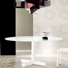 bonaldo surfer modern round dining table by giuseppe vigano stardust