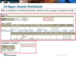 manage asset definition and asset assignments for your capital projec u2026