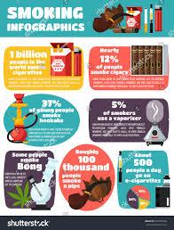 smoking infographics flat layout world statistics stock vector