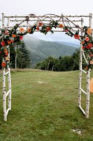 wedding arbor kits chuppa wedding arch arbor birch poles