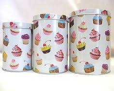 cupcake canisters for kitchen cupcake tea coffee sugar canisters jars bone china