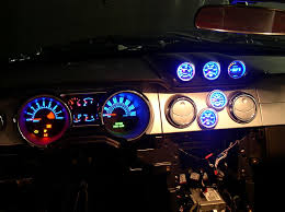 mustang custom gauges cdc custom vent pods from project source the