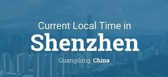 China Time Zone Map by Current Local Time In Shenzhen Guangdong China