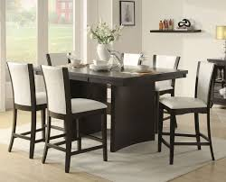 High Dining Room Chairs Mango Burnished Walnut  Pc Counter - Dining room table sets counter height