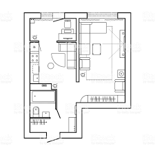 architecture plan with furniture house floor plan kitchen lounge