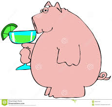 margarita clip art pig drinking a margarita stock illustration image of alcohol