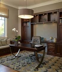 office desk design home traditional with built in bookshelves