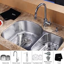 Kitchen Sink And Faucet Combo by Furniture Charming Kraus 23x18 Undermount Kitchen Sink Soap
