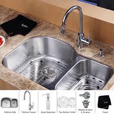 kitchen sink with faucet set furniture charming kraus 23x18 undermount kitchen sink soap