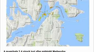 Washington State Earthquake Map by M3 4 Earthquake Hits Near Bremerton Washington Amid Swarm Of