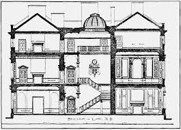 plate 95 carrington house section and ground plan british