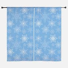 snowflake window curtains drapes snowflake curtains for any
