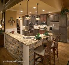 kitchen rock island image result for kitchen knee wall veneer house remodel