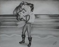 mermaid images ariel eric drawing hd wallpaper