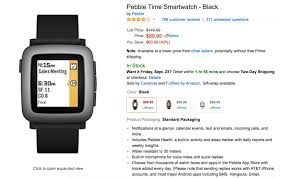 amazon black friday app deal deal get a pebble time for just 89 95 on amazon