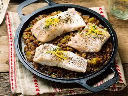cuisiner poisson blanc poisson blanc aux lentilles une recette soscuisine