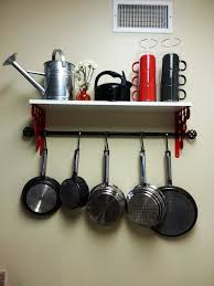 simple wans on and ways to store pots in pans with hanging pots