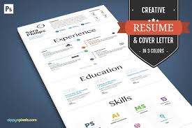 creative resume and cover letter resume templates creative market
