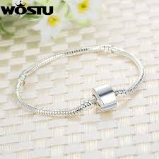 silver magnetic bracelet clasps images Wostu new design silver snake chain magnet clasp european charm jpg