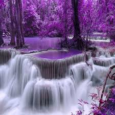 purple pictures new 5d diy diamond embroidery landscape purple waterfall diamond