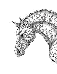 9 free pages decorative horse profile print shade color
